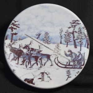 andreas alariesto design for arabia of finland small ethnic plate