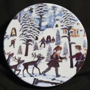ethinic plate from arabia of finland designed by andreas alariesto number 10