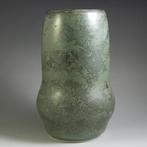 arabia vintage vase mottled green biomorphic 1940s
