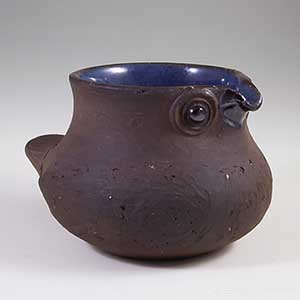 Small vase/bowl shaped like a bird by dybdahl of denmark