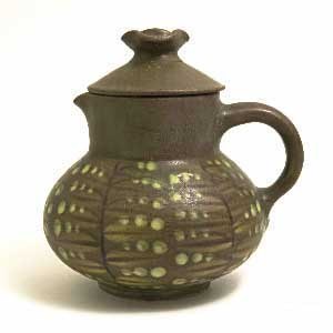 dybdahl covered creamer in a branched pattern