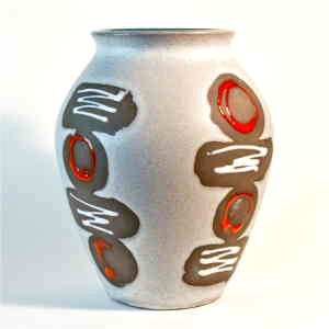 west germany abstract vase