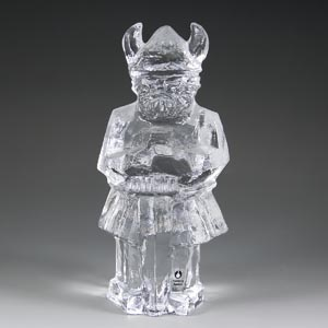 pukeberg sweden glass viking figure