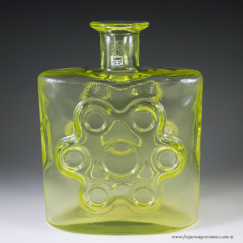 Scandinavian glass sold riihimaen lasi siiroinen paukkurauta vase uranium glass reviewsmspy