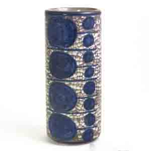 michael andersen & son blue and grey vase with a persia glaze