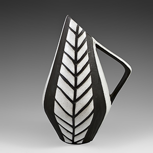 Michael Andersen Tribal Series B&W small  pitcher no. 5512.