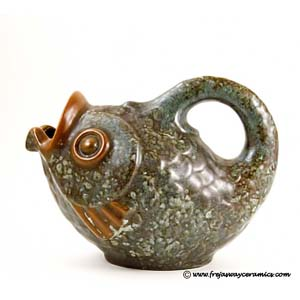 fish-shaped jug from michael andersen and son bornholm denmark