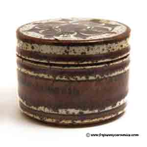 michael andersen & son round covered box designed by marianne starck