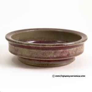 michael andersen and son small oxblood glazed bowl