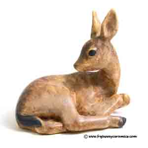michael andersen & son fawn figurine designed by peder hald