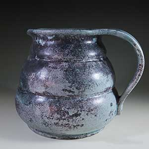 herman a kahler svend hammershoj blue mottled large pitcher