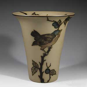 vase by hjorth bird motif