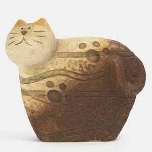 abstract--and cute--cat figurine manufacturer unknown