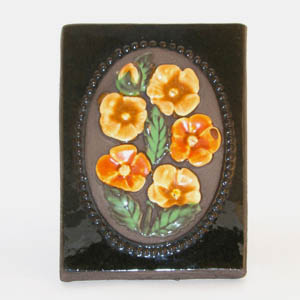 jie gantofta yellow flowers wall plaque