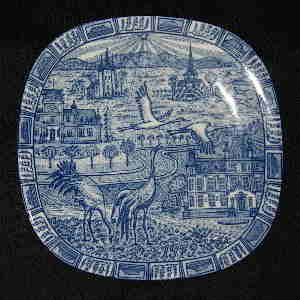 rorstrand 1979 christmas plate designed by gunnar nylund
