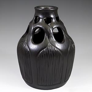 early pirced vase from Hjorth of Bornholm production number 731