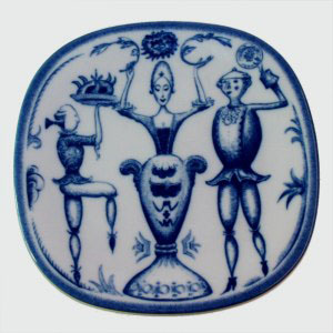 rorstrand sweden jubileum plate 250 years 1700