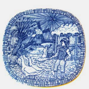 rorstrand christmas plate designed by gunnar nylund 1970