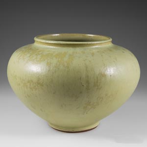 unknown manufacturer light green oblate vase