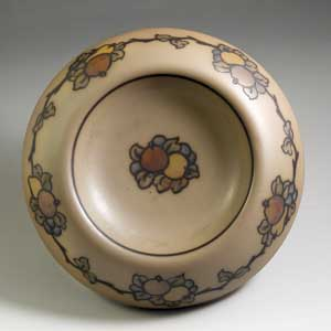 shallow bowl with a fruit motif by hjorth marked 15