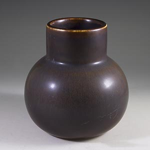 carl harry stalhane for rorstrand cea vase brown haresfur glaze