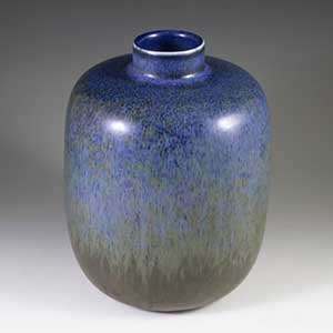 Haresfur glaze vase designed by carl-harry stålhane for rorstrand cef