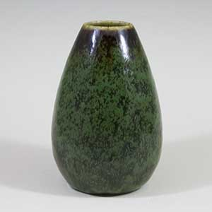 carl harry stalhane mottled green vase for rorstrand SBH