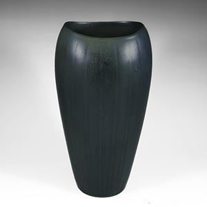 rorstrand dark green AXZ vase designed by gunnar nylund