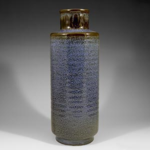 gunnar nylund blue speckled vase for rorstrand