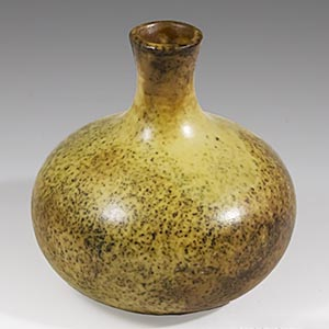 Rorstrand test firing piece, ball vase with a short neck. This may be a test-firing of a glaze by Harry Stalhane