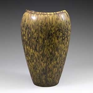 Rorstrand AXZ vase by Gunnar Nylund done in a shades of brown haresfur glaze.