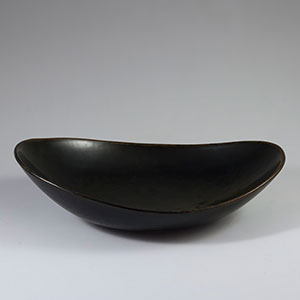 Rorstrand brown bowl by Carl Harry Stalhane SHH