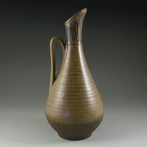 gunnar nylund for rorstrand brown ewer with stripes