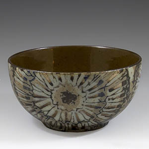Royal Copenhagen baca bowl designed by Nils Thorsson in the Sunflower series. 870 over 2196