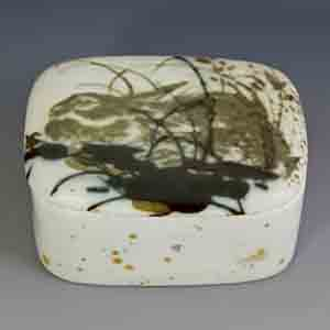 royal copenhagen diana series small covered box rabbit motif designed by nils thorssen