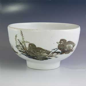 royal copenhagen diana series designed by nils thorsson medium bowl with a duckling motif