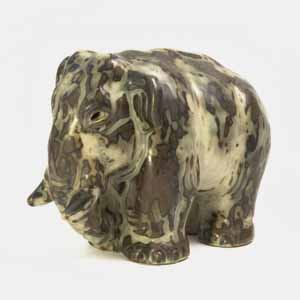 royal copenhagen mammoth figurine designed by knud khyn product number 20186