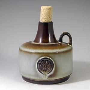 soholm tan northern lights jug with a cork designed by maria philippi