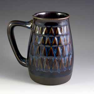 beer mug designed by einar johansen for soholm ceramics of bornholm denmark