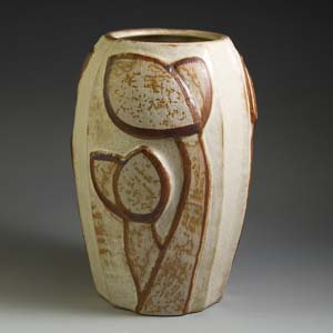 soholm 3-faced round vase designed by noomi 3682-1