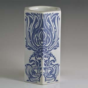 bjorn wiinblad blue and white candle holder for nymolle